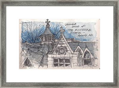Biltmore Carriage House Framed Print by Tim Oliver