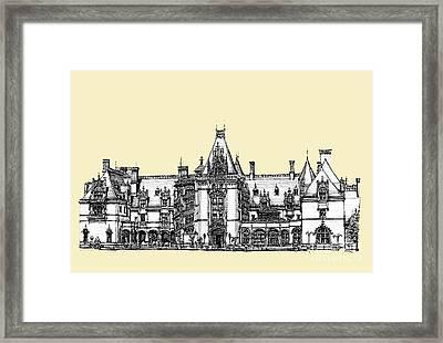 Biltmore Estate In Asheville Framed Print by Adendorff Design