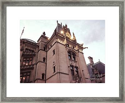 Biltmore Estate Mansion Architecture - American Castles Ashevile North Carolina Framed Print by Kathy Fornal