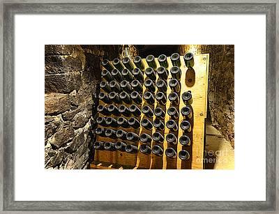 Biltmore Estate Wine Cellar -stored Wine Bottles Framed Print by Luther   Fine Art
