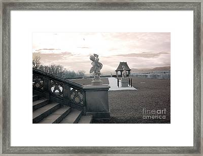 Biltmore House Italian Garden Sculpture Architecture Framed Print by Kathy Fornal