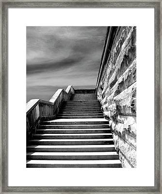 Biltmore Stairs Asheville Nc Framed Print by William Dey