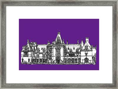 Biltmore Stately Home In Purple Framed Print by Building  Art