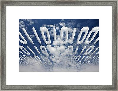 Electronic Information Data Transfer Framed Print by Johan Swanepoel