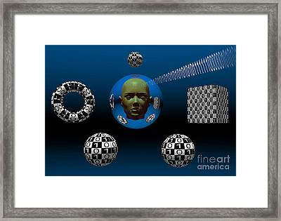 Binary Language, A Universal Means Framed Print by Mark Stevenson