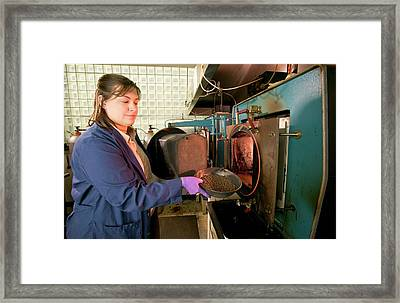 Biochar Production Research Framed Print by Stephen Ausmus/us Department Of Agriculture