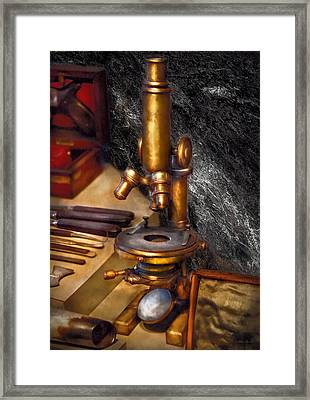 Biology - The Art Of Dissection Framed Print by Mike Savad