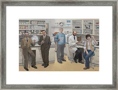 Biotechnology Pioneers Of Silicon Valley Framed Print by Terry Guyer