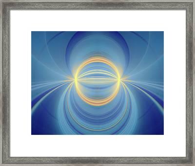 Bipolar Conceptual Illustration Framed Print by David Parker