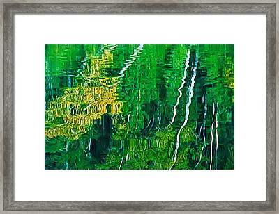Birch Trees Reflection Framed Print by Pat Now