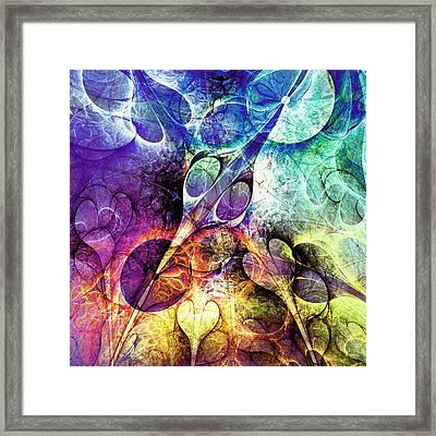 Bird And Flowers Framed Print by Anastasiya Malakhova