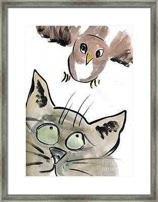 Bird Framed Print by Ellen Miffitt