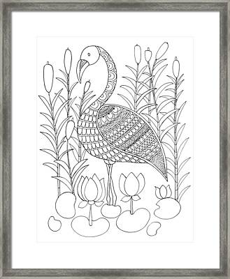 Bird Flamingo Framed Print by Neeti Goswami