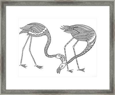 Bird Flamingos 2 Framed Print by Neeti Goswami