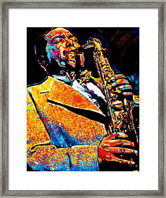 Bird Lives-charlie Parker Framed Print by Vel Verrept