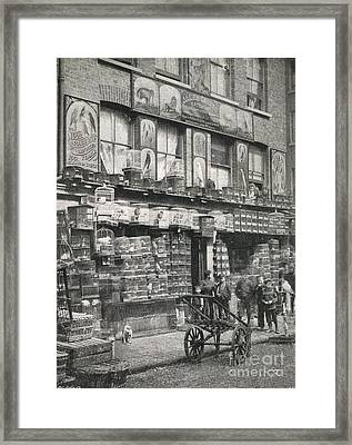Bird Market, London, 1890s Framed Print by British Library