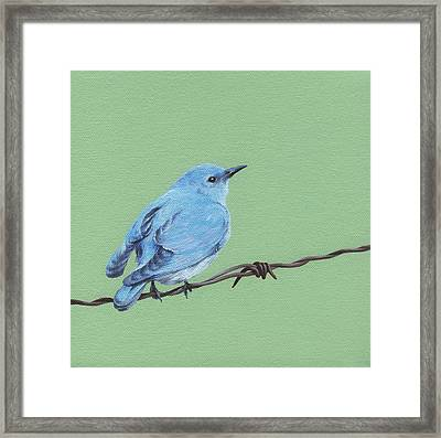 Bird On A Wire Framed Print by Natasha Denger