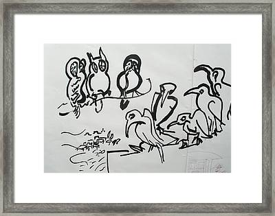 Bird Talk Framed Print by Godfrey McDonnell