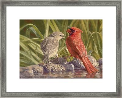 Bird Talk Framed Print by Lucie Bilodeau