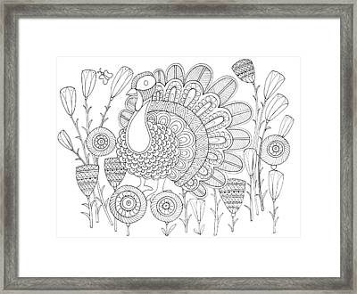Bird Turkey Bird 1 Framed Print by Neeti Goswami