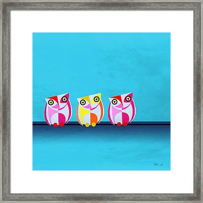 Birds In Blue  Framed Print by Mark Ashkenazi