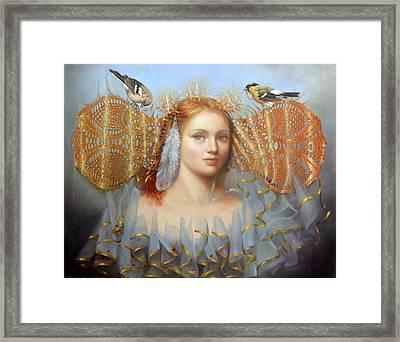 Birds Of A Feather Framed Print by Loretta Fasan