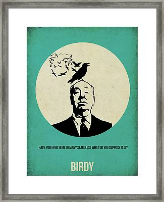 Birds Poster Framed Print by Naxart Studio