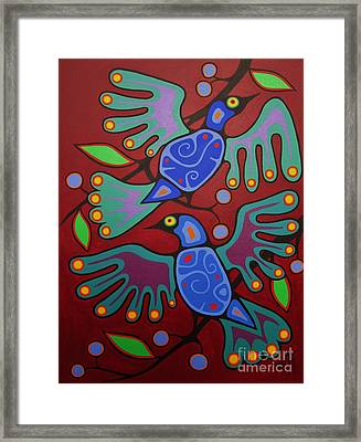 Birds Resting Framed Print by Jim Oskineegish