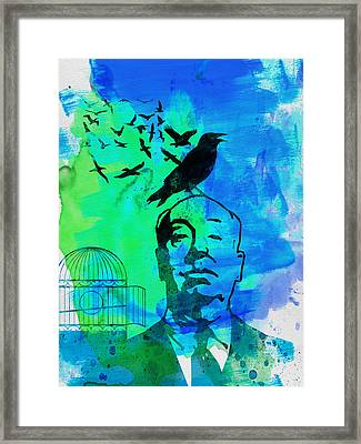 Birds Watercolor Framed Print by Naxart Studio