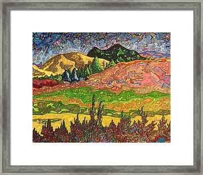 Birdseye Landscape #2 Framed Print by Dale Beckman