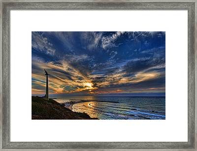 Birdy Bird At Hilton Beach Framed Print by Ron Shoshani