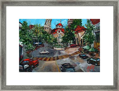Birmingham Five Points Framed Print by Carole Foret