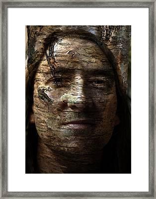 Birtch Green Man Framed Print by Christopher Gaston