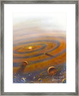 Birth Of A Solar System, Artwork Framed Print by David A. Hardy