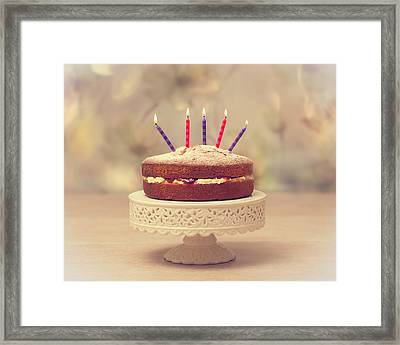 Birthday Cake Framed Print by Amanda Elwell