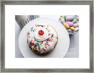 Birthday Party Donut Framed Print by Edward Fielding