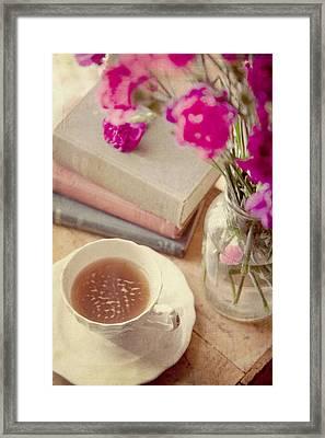 Birthday Tea Time Framed Print by Toni Hopper