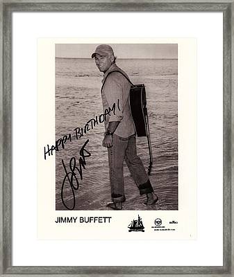 Birthday Wishes From Jimmy Buffett Framed Print by Desiderata Gallery