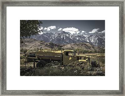 Bishop California Framed Print by Mitch Shindelbower
