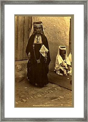 Biskra, Rue Des Ouled Nai ¨ Ls, Neurdein Brothers 1860 Framed Print by Litz Collection