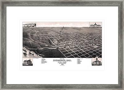 Bismarck - North Dakota - 1883 Framed Print by Pablo Romero