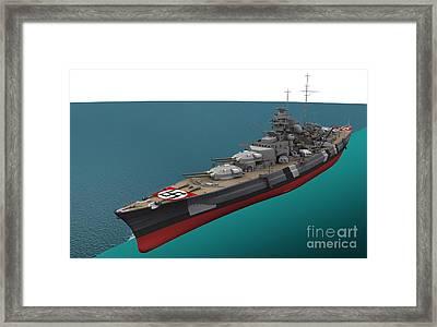 Bismarck, German World War II Battleship Framed Print by Jose Antonio Pe??as