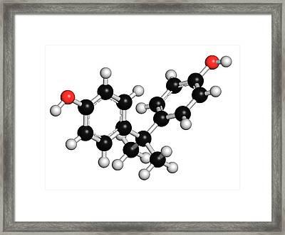 Bisphenol A Plastic Pollutant Molecule Framed Print by Molekuul