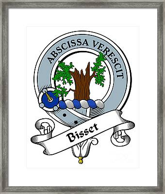 Bisset Clan Badge Framed Print by Heraldry