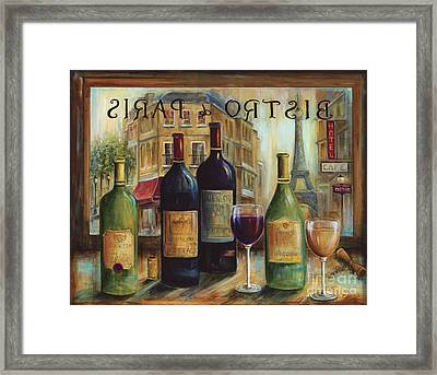 Bistro De Paris Framed Print by Marilyn Dunlap