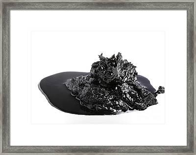 Bitumen Framed Print by Victor De Schwanberg