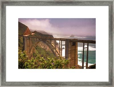 Bixby Bridge At Big Sur Framed Print by Donna Kennedy