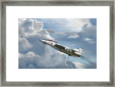 Black Aces High Framed Print by Peter Chilelli