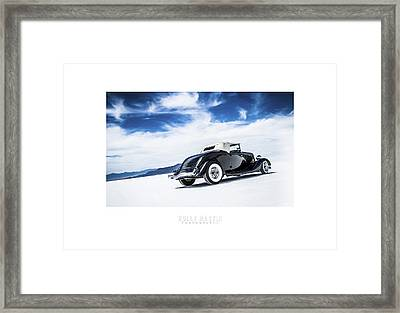 Black And Blue Framed Print by Holly Martin