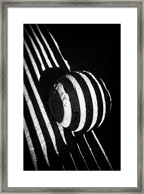 Black And White Abstract Lines And Shapes Stark Contrast Framed Print by Matthias Hauser